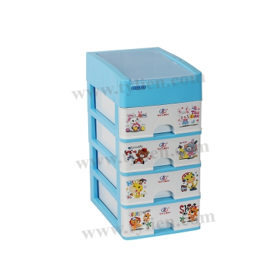 Tủ Nhựa Mini M Trắng Sữa 5 Ngăn